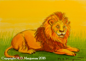 Lion ink painting web 1-4-16