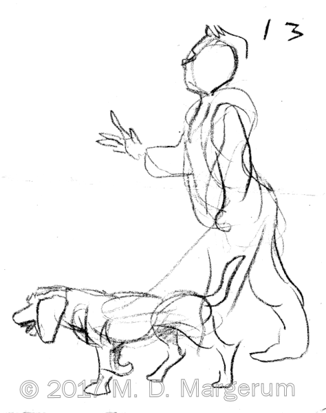 man and dog rapid sketch 1 10-12-17